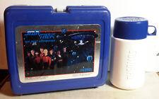 1988 Star Trek Next Generation BLUE Plastic Lunch Box w Thermos- UNUSED (M5231)