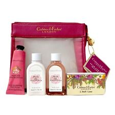 Crabtree & Evelyn PEAR & PINK MAGNOLIA Gift Set w Zip Bag Body Wash Lotion Cream
