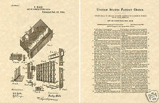PRISON JAIL CELL 1892 POLICE STATION - Patent Art Print READY TO FRAME!!!!!
