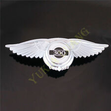 CH-3S 3D Angel Wing 300 Car Front Hood Grill Emblem Sticker Chrysler 300C Badge