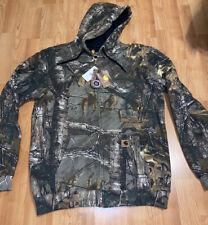 New Carhartt Camo Zip Sweatshirt Camoflage Size Large Tall