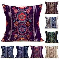 2018 Indian Bohemian Floral Sofa Bed Home Decor Cotton Pillow Case Cushion Cover