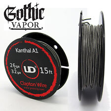 Clapton Wire Kanthal 26ga + 32ga 15ft UD CLAPTON COIL - FREE SHIPPING