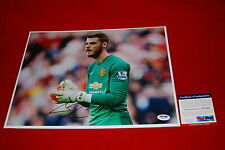 DAVID DE GEA spain manchester united red devils signed PSA/DNA 11x14 soccer 1