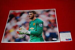 DAVID DE GEA spain manchester united red devils signed PSA/DNA 11x14 soccer 1