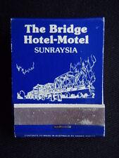 THE BRIDGE HOTEL-MOTEL SUNRAYSIA STURT HWY BURONGA 050 237011 MATCHBOOK