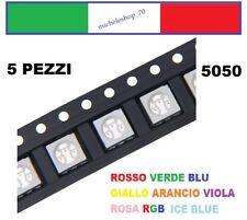 chip led SMD 5050 alta luminosità confezioni da 5 pezzi colori a scelta