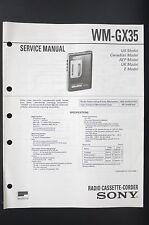 SONY WM-GX35 Walkman/Radio Cassette Corder Service-Manual/Schaltplan/Diagram 81