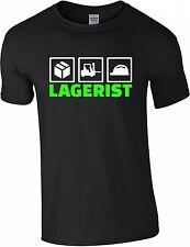 Lagerist T-Shirt S-3XL Beruf Lager Arbeiter Fun Job Mitarbeiter Stapler T0009