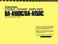 Mitsubishi DA-A10DC DA-A15DC 2-in-1 OWNER'S MANUAL & SERVICE MANUAL
