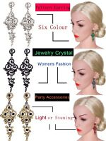Women's Earring Gatsby Pearl Earrings Art Deco Vintage 1920s Flapper Jewelry Ear