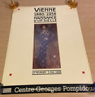 Gustav Klimt vintage Exhibition Poster VIENNA 1986 Georges Pompidou Emilie Flöge