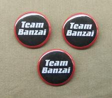 """Buckaroo Banzai TEAM BANZAI 3 button set 1.25"""" badge pinback cult scifi film 80s"""