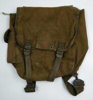 Vintage Military Canvas Bag Pack with Shoulder Straps 2 pouch equipment bag