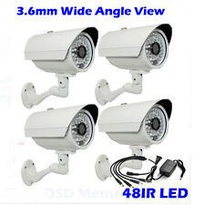 """1300TVL 1/3"""" CMOS Color 4p 48IR 3.6mm Wide Angle Bullet Security Camera +Adapter"""