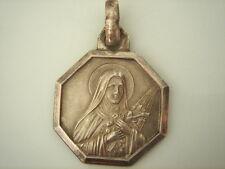 SUPERBE MEDAILLE DOUBLE FACE  Sainte Thérése de Lisieux VINTAGE 70 NEUF/NEW
