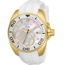 Reloj Invicta 28677 conexión para mujer madre de Perla Cristales Reloj De Silicona Blanca