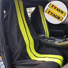 GT Racing Black Throw Over Slip On Car Seat Covers & Seat Belts Shoulder Pads