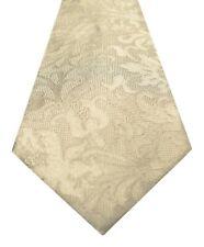 Mens Michael Kors Classic Paisley Beige 100 Silk Neck Tie