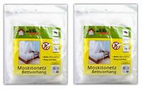 2er Set Moskitonetz Bettvorhang | Insektennetz Betthimmel | Reise Netz Bett