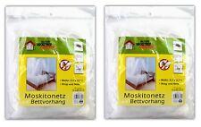 2er Set Moskitonetz Bettvorhang   Insektennetz Betthimmel   Reise Netz Bett