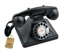 GPO 200 Classic Vintage Telephone With Rotary Dial - Black