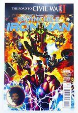 Marvel INVINCIBLE IRON MAN (2016) #11 2nd PRINT Riri WILLIAMS App NM Ships FREE!