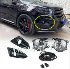 2015-2018 Ford Edge Black fog light frame Front fog lights Light bulb switch kit