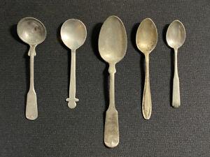 5 Antique Spoons