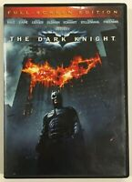 The Dark Knight DVD FullScreen BATMAN Christian Bale Heath Ledger Morgan Freeman