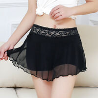 Lady Mesh Underpants Safety Shorts Lace Petticoat Skirts Culottes Underwear Sexy