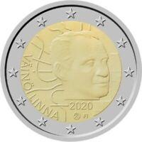 2 euro Finnland 2020 : 100. Geburtstag von Väinö Linna in PP Polierte Platte