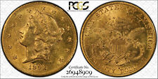 1892-S $20 LIBERTY DOUBLE EAGLE  PCGS AU55 SCARCE & BEAUTIFUL !