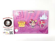 Disney Minnie Mouse Main Attraction Pin Set Alice Mad Tea Party LR March
