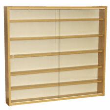 Reveal 6 Shelf Glass Wall Display Unit Oak MC0500
