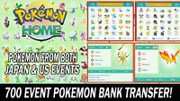 Pokemon Home Sword and Shield 700 Event Pokedex Completion Pokebank Transfer!!