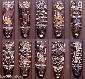 African Tribal Wall Hanging Mask Ethnic Garden Pub Decor Decoration Accessories