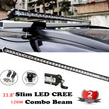 SLIM SINGLE ROW 126W 42 LED WORK LIGHT BAR SPOT OFFROAD DRIVING LAMP 33inch