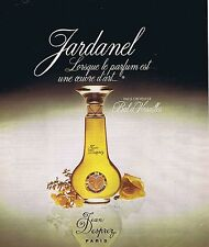 "PUBLICITE ADVERTISING 114 1977 JEAN DESPREZ ""Jardanel"" parfum"