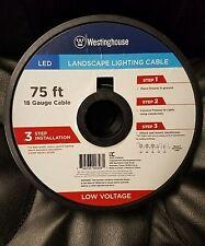 Westinghouse outdoor lighting equipment ebay landscape lighting cable 75 feet ft 18 gauge led low voltage light underground aloadofball Choice Image