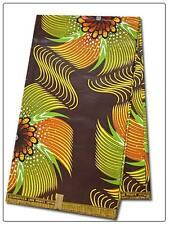 African Flowers Print Fabric BY 1/2 YARD Ankara kitenge fancy wax p1335