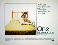 ONE IS A LONELY NUMBER 1972 Trish Van Devere, Janet Leigh US HALF SHEET POSTER