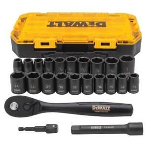 DeWALT DWMT74739 1/2-Inch Drive Combination Impact Socket Set - 23pc