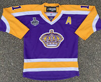 Los Angeles Kings Anze Kopitar Authentic Stanley Cup Championship Jersey Size 50