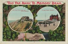BLACKPOOL Twin Cameo Image Uncle Toms Cabin Tho Far Away Vintage Colour PC 1910