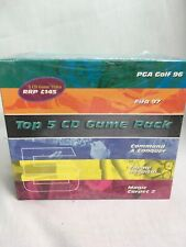 Top 5 CD Game Pack - Command & Conquer, Theme Hospital, Magic Carpet 2 Pc New