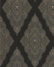 Julien MacDonald JEWEL Black / Gold Glitter Wallpaper by Graham & Brown 3 Rolls