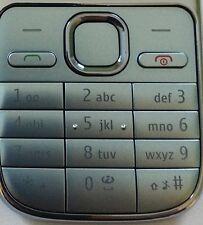 Original Nokia C2-01 Keypad Keyboard Cover Front Cover light blue blue