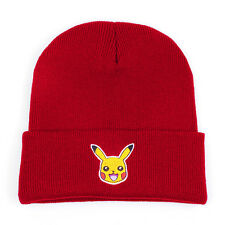 Pokemon Pikachu Unisex Beanie Winter Ski Cap Knitted Warm Baggy Skull Hat Black