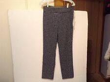 Margaret M Slimming Pant for Stitch Fix (L) Black/White Checked NWT! (#CB-L7)